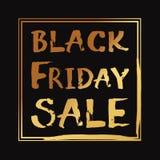 Letras escritas mano del vector de la venta de Black Friday Imagen de archivo libre de regalías