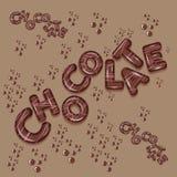 Letras escuras do projeto 3d do logotipo do chocolate Fotos de Stock Royalty Free