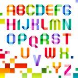 Letras espectrais dobradas da cor de papel da fita ilustração do vetor