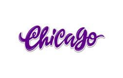 Letras exhaustas de la mano de Chicago ilustración del vector