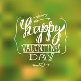 Letras felices de la mano del día de tarjeta del día de San Valentín Imagenes de archivo