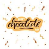 Letras felices de la tipografía del día del chocolate libre illustration