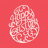 Letras felices de Pascua - ejemplo del vector Ilustración del Vector