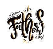 Letras felices del vector del día de padre Ilustración drenada mano del vector