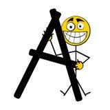 Letras felizes do alfabeto - A Foto de Stock Royalty Free