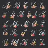 Letras florais bonitas Imagem de Stock Royalty Free