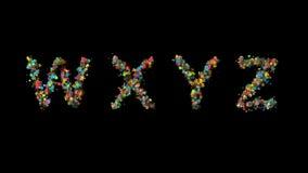 Letras florales determinadas almacen de metraje de vídeo