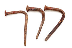 Letras forjadas de los clavos Imagen de archivo libre de regalías