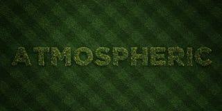 - Letras frescas da grama com flores e dentes-de-leão - 3D ATMOSFÉRICO rendeu a imagem conservada em estoque livre dos direitos ilustração stock