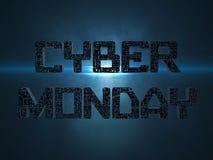 Letras futuristas del texto cibernético de lunes ilustración del vector