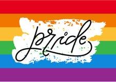 Letras gay del orgullo stock de ilustración