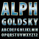 Letras gordas do ouro Foto de Stock Royalty Free