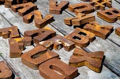 Letras grandes del metal Imagen de archivo libre de regalías