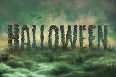Letras Halloween Imágenes de archivo libres de regalías