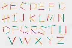 letras hechas de la madera Fotos de archivo libres de regalías