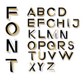 Letras impossíveis da geometria Fonte impossível da forma Foto de Stock Royalty Free