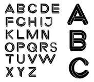 Letras impossíveis da geometria Fonte impossível da forma Fotografia de Stock Royalty Free
