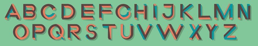 Letras impossíveis da geometria Fonte impossível da forma Baixos caráteres 3d polis Foto de Stock Royalty Free