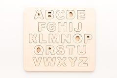 Letras inglesas de madera Fotos de archivo libres de regalías