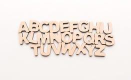 Letras inglesas de madera Imágenes de archivo libres de regalías