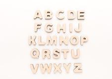 Letras inglesas de madera Fotografía de archivo