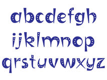 Letras interessantes do alfabeto com pontos ilustração do vetor