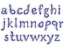 Letras interessantes do alfabeto com teste padrão floral ilustração royalty free