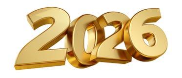 2026 letras intrépidas aislaron el concepto 3d-illustr del sylvester del Año Nuevo libre illustration