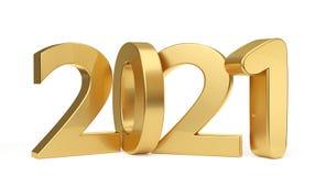 2021 letras intrépidas de oro 3d-illustration libre illustration