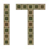 Letras las TIC hechas de microprocesadores viejos y sucios Fotografía de archivo libre de regalías