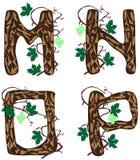 Letras M.P. ilustración del vector