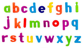 Letras magnéticas do alfabeto Imagem de Stock Royalty Free