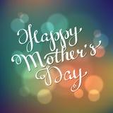 Letras a mano felices del día de madre Imagenes de archivo