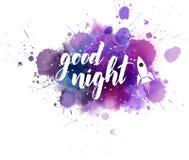 Letras manuscritas de las buenas noches Stock de ilustración