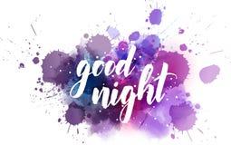 Letras manuscritas de las buenas noches Libre Illustration