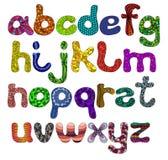 Letras mayúsculas divertidas del alfabeto en colores Foto de archivo libre de regalías