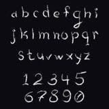 Letras minúsculas del movimiento del cepillo Foto de archivo libre de regalías