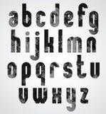 Letras minúsculas gráficas amalucados pretas Imagem de Stock