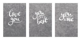 Letras modernas de la caligrafía de la pluma del cepillo Fotos de archivo libres de regalías