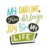 Letras multi-coloridas brilhantes citações Inscrição pintado à mão motivational Imagem de Stock Royalty Free