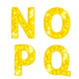 Letras N, O, P, Q del diamante stock de ilustración