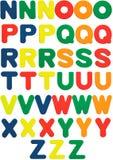 Letras N a Z da espuma Fotografia de Stock Royalty Free