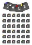 Letras nas etiquetas de papel Imagens de Stock Royalty Free