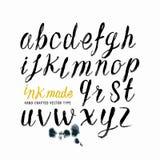 Letras negras del vector de la tinta Imagenes de archivo