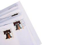 Letras nos envelopes Imagens de Stock