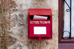 Letras para Santa Mailbox Christmas Decoration foto de stock