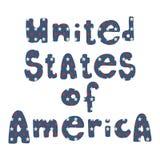 Letras patrióticas americanas Imagen de archivo libre de regalías