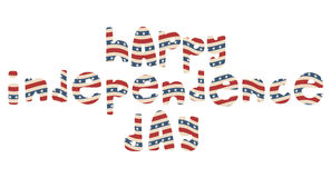 Letras patrióticas americanas Imagenes de archivo