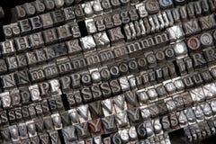 Letras pequenas Imagem de Stock