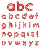 Letras pequenas desenhadas mão ilustração do vetor